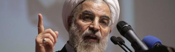 Rohani claims Iranian government supports 'peace and stability' in Syria, while Sepah Pasdaran and Hozebollah Lebanon are there fighting
