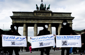 Naame Shaam protest, Berlin, 8 April 2014
