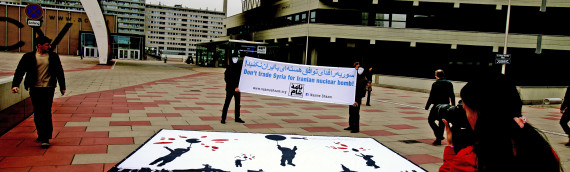 Naame Shaam activists protest at EU-Iran meeting in Vienna