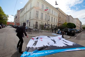 Naame Shaam protest at the Iranian embassy in Vienna, 12 May 2014