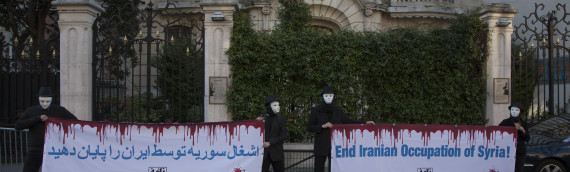 Naame Shaam activists protest at Iran's embassy in Paris to demand end to 'Iranian occupation of Syria'
